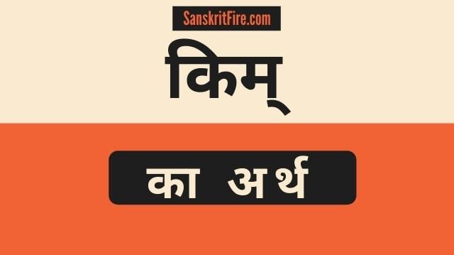 किम् का अर्थ | kim meaning in sanskrit